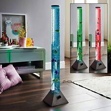 90cm Colour Changing LED Mood Bubble Tower Lamp Fish Water Tube Floor Standing L