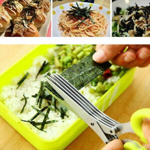 5 Blade Shredding Scissors Shears Shed Paper Document Kitchen Vegetable Herbs