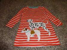 MINI BODEN 2-3 2T 3T ORANGE STRIPE DOG DRESS
