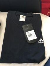 Mens Authentic Adidas L Navy Blue  T-Shirt Bnwt