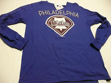 PHILLIES BLUE MENS LARGE LONG SLEEVE VANITY FAIR IMAGEWEAR SHIRT NEW WITH TAG