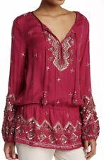 27. Nwt Calypso St. Barth Fioretta Embellished Silk Top S $450