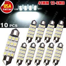 10PCS 42MM LED 12SMD Courtesy Interior Light Bulb Festoon Dome Lamp 6000K White