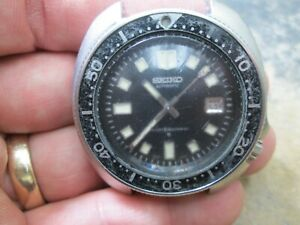 Vintage Seiko AUTOMATIC DIVERS 6105-8119 NO.131062 Stainless Steel Running Watch