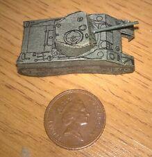 Small thin card Sherman tank WW2 1970s roughly N Gauge 40mm long