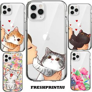 Case Cover Silicone Cute Kawaii Kitten Grumpy Cat Happy Colourful Kitty Pet Meow