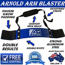 AUSTODEX  ARNOLD WEIGHT LIFTING BODYBUILDING BICEP ARM BLASTER EZ BAR CURL ARMS