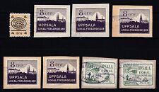 Sweden local stamps Stockholm, Uppsala