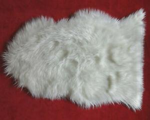 Ultra Soft Fluffy White Rug Faux Fur Sheepskin Area Rug 2 x 3 Feet 2x3 DORM APT