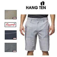 SALE! Hang Ten Men's Perspective Walk Short Chino Shorts Flat Front VARIETY E43
