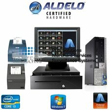 ALDELO POS PRO COMPLETE BAR / DINE IN RESTAURANT POS SYSTEM NEW I3 4GB RAM