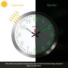 VORCOOL 30cm Wall Clock Metal Luminous Non-ticking Quartz Battery Nightlight