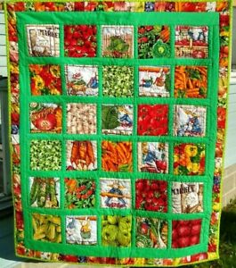 MacGregor's Farm and Rabbit Quilt ~ Handcrafted