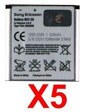 LOT OF 5 Sony Ericsson BST-38 OEM Battery for W580 W580i W980 Z770i C510 C902