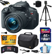 Canon EOS Rebel T5i 700D Digital Camera w/ 18-55mm Lens (8GB Beginner's Bundle)