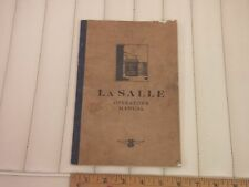1929 Lasalle Car Operator Owners Instruction Manual