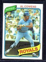 1980 Topps #330 Al Cowans Kansas City Royals Baseball Card EX/MT+