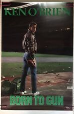 Ken O'Brien Born To Gun Vintage Poster New York Jets NFL Football QB 1980's