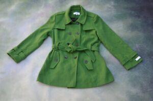 Vintage Calvin Klein Women Green Coat Size 18.