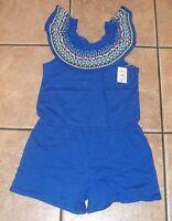Girls CHILDRENS PLACE~BLUE RUFFLED ROMPER~NWT~5 6 7 8 10 12 14~1 pc Shorts Set