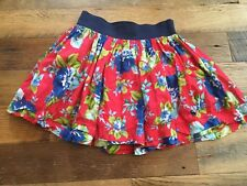 Junior Womens Abercrombie & Fitch Floral Skirt Size Small Coral Red Blue EUC