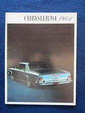 CHRYSLER 1964 Auto Brochure 8.5x11 Fold Out Newport 300 New Yorker Specs