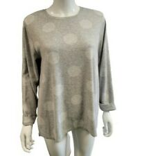M&S Collection Grey Mix Spotted Roll Tab Cuffs Jumper (16)