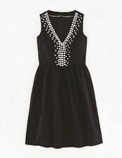 BODEN Sparkly Embellished Dress, size 12,  Black/White