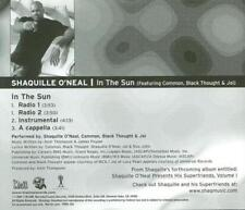 Shaquille O'Neal: In The Sun PROMO Music CD Radio 1 & 2, Instrumental, Cappella