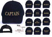 Marine Navy Baseball Caps Hat Girls Boys Childrens Kids Summer Sun Captain