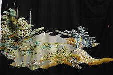 Vintage Japanese silk  Kimono  TOMESODE  from Japan 3-26