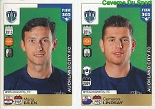 680-681 MARIO BILEN CAMERON LINDSAY AUCKLAND CITY FC FIFA 365 PANINI