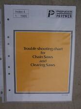 1985 Pioneer / Partner Trouble Shooting Chart Chain Saw Clearing Saws Tool  H