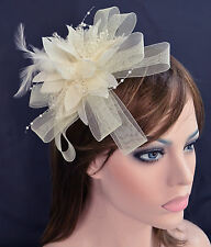 Spring Race Party Melbourne Cup Feather Fascinator Hair Headband or Brooch Clip