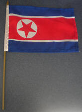 North Korea Country Hand Flag