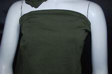 Cotton Jersey Lycra Knit Fabric 4 ways spandex Very Soft Olive color 8.5-9 oz