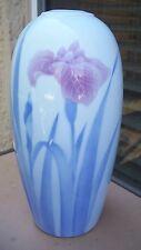 Fukagawa IRIS Beehive Vase Japanese Arita Japan Porcelain Pastel Pink Blue Mauve