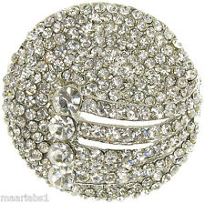 SILVER BROOCH DIAMANTE BROACH VINTAGE SHOE CAKE DECORATION PIN BRIDAL - NEW - UK