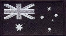 Australian Flag Black Military Navy, Woven Badge, Patch 8cm x 4.5cm
