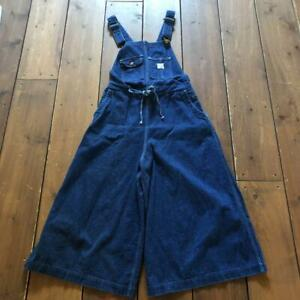 orSlow Women's Pants Beams Boy Overalls denim Size 0 made in Japan Used #4542A