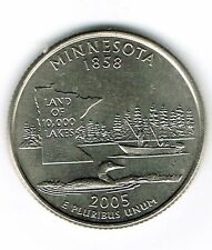 2005-D Brilliant Uncirculated Minnesota 32TH State Quarter Coin!