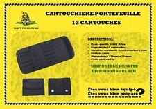 Cartouchière NOIRE portefeuille 12 cartouches
