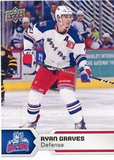 17/18 UPPER DECK AHL #18 RYAN GRAVES HARTFORD WOLF PACK *47766