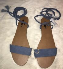 American Eagle Outfitters Sandals Faux Suede Blue Strappy Gladiator Sandals 11