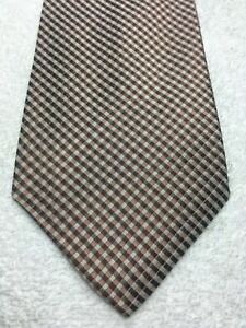 BANANA REPUBLIC MENS TIE BROWN AND MUTED PINK STRIPED 4 X 59 NWOT