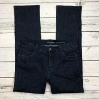 Soft Surroundings Lower Rise Jeans Size 8 Womens Dark Wash Stretch Denim 27518