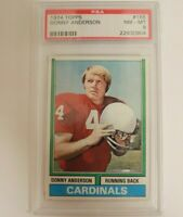 1974 Topps Football Donny Anderson Card # 155 PSA 8