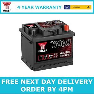 Yuasa YBX3063 Car Battery 12V Sealed Lead Acid 4 Yr Warranty Type 063