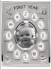 Malden Baby's First Year Picture Frame- 13 Pictures- New In Box