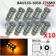 10x BAU15S 7507 PY21W 5050 27-SMD Amber Brake/Backup/Tail/Turn Signal LED Light